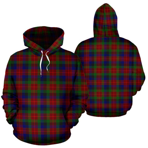 Image of Tennant Tartan Hoodie, Scottish Tennant Plaid Pullover Hoodie