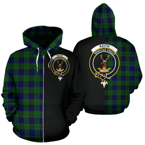 Keith Modern Tartan Hoodie Half Of Me TH8
