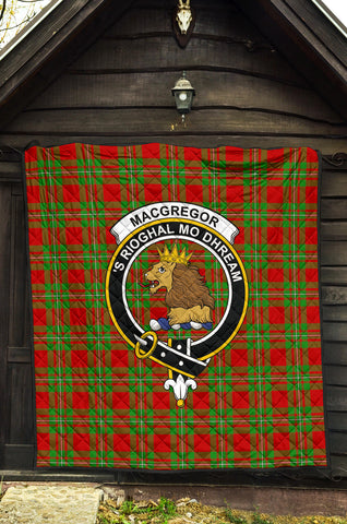 Image of MacGregor Modern Tartan Clan Badge Premium Quilt TH8