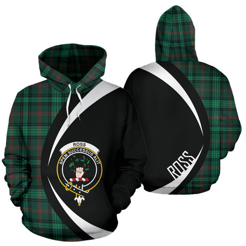 Image of Ross Hunting Modern Tartan Circle Hoodie HJ4