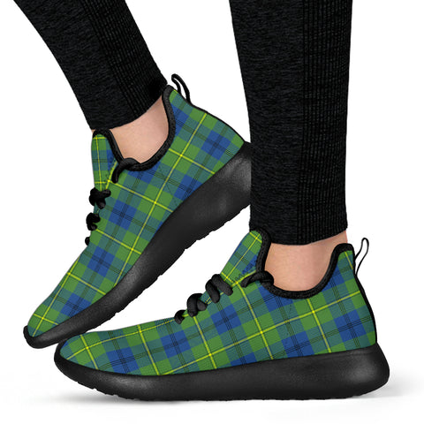 Image of Tartan Mesh Knit Sneakers - Johnston Ancient