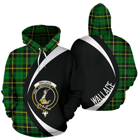 Image of Wallace Hunting - Green Tartan Circle Hoodie HJ4
