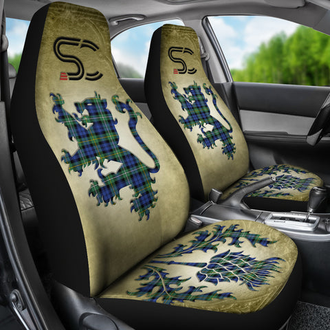 Campbell Argyll Ancient Tartan Car Seat Cover Lion and Thistle Special Style TH8