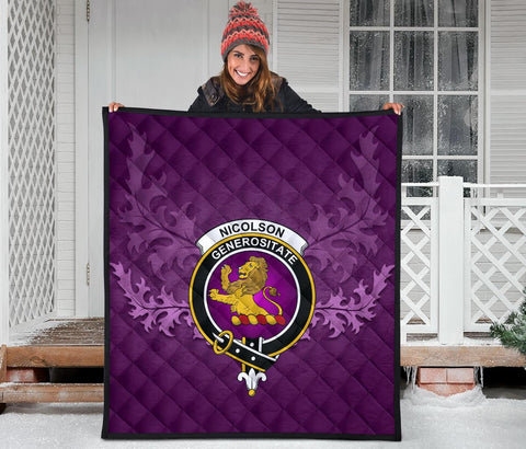 Image of Nicolson Ancient Crest Violet Quilt