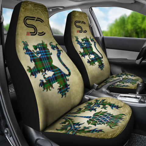 Newlands of Lauriston Tartan Car Seat Cover Lion and Thistle Special Style TH8