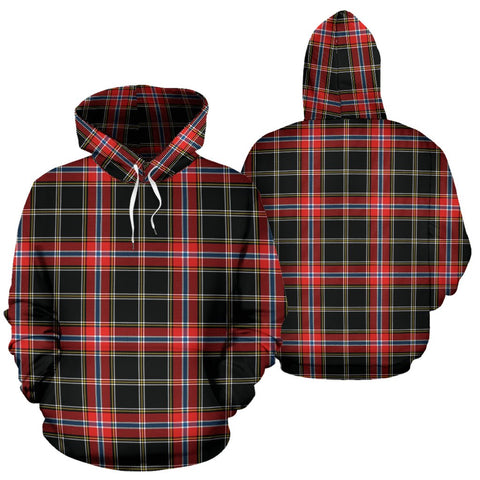 Norwegian Night Tartan Hoodie, Scottish Norwegian Night Plaid Pullover Hoodie
