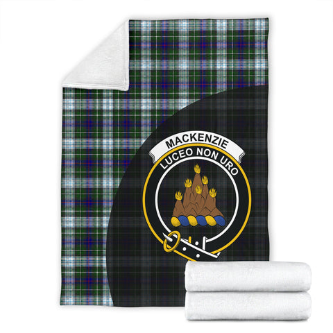Image of MacKenzie Dress Tartan Clan Badge Premium Blanket Wave Style TH8