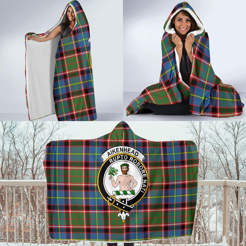 Image of Aikenhead Clans Tartan Hooded Blanket - BN
