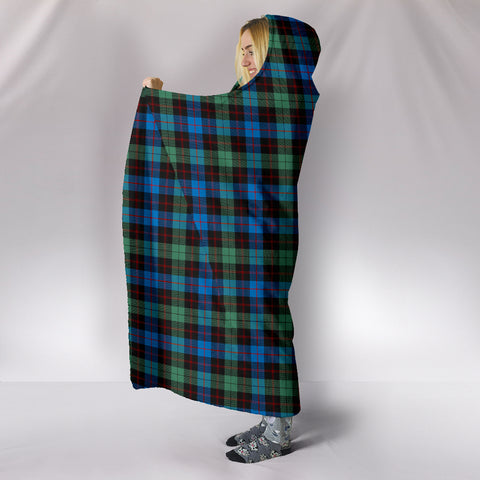 Image of Guthrie Ancient, hooded blanket, tartan hooded blanket, Scots Tartan, Merry Christmas, cyber Monday, xmas, snow hooded blanket, Scotland tartan, woven blanket