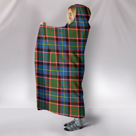 Image of Stirling & Bannockburn District, hooded blanket, tartan hooded blanket, Scots Tartan, Merry Christmas, cyber Monday, xmas, snow hooded blanket, Scotland tartan, woven blanket