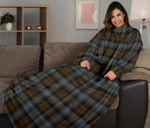 BlackWatch Weathered Tartan Clans Sleeve Blanket K6