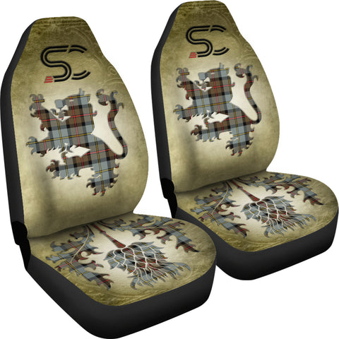 MacLeod of Harris Weathered Tartan Car Seat Cover Lion and Thistle Special Style TH8