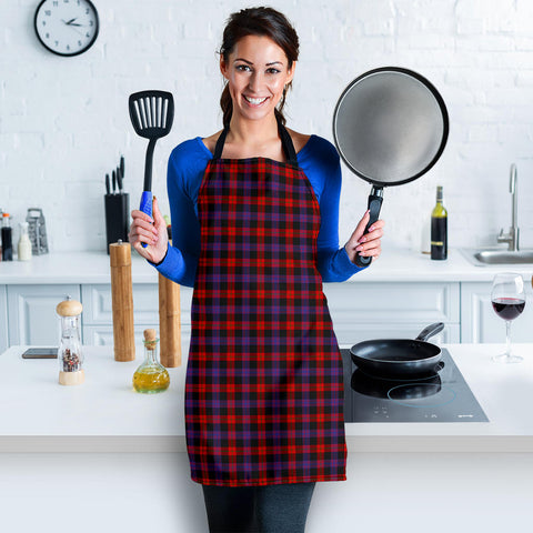 Image of Brown Modern Tartan Apron HJ4
