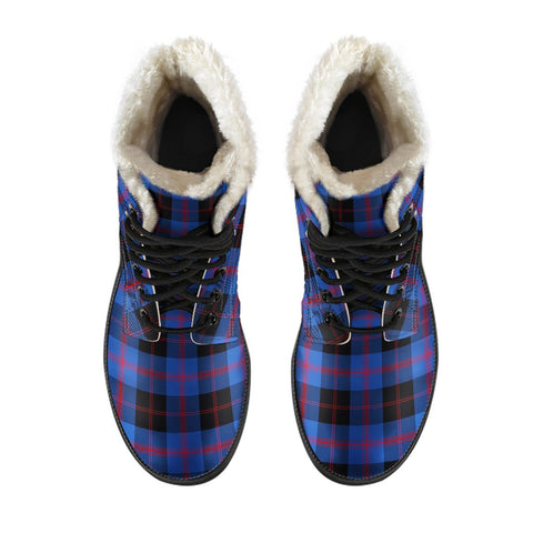 Image of Angus Modern Tartan Boots For Men