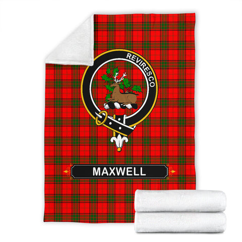 Maxwell Crest Tartan Blanket | Tartan Home Decor | Scottish Clan