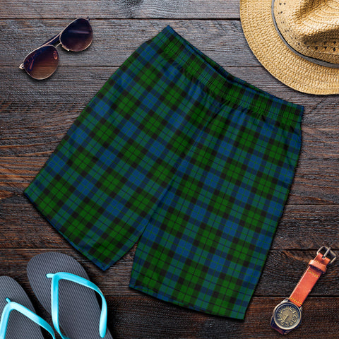 MacKay Modern Tartan Shorts For Men K7