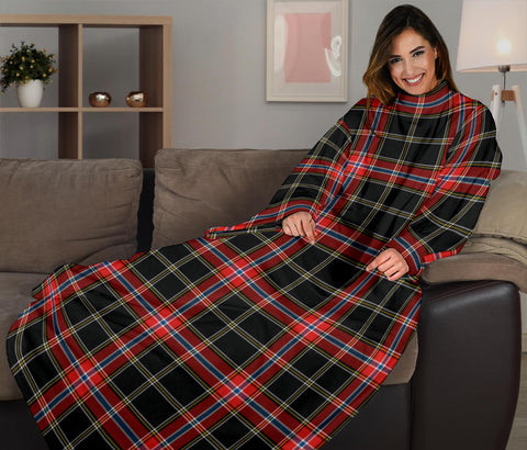 Norwegian Night Tartan Clans Sleeve Blanket K6