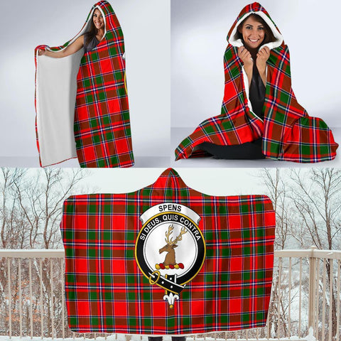 Spens (or Spence) Clans Tartan Hooded Blanket - BN