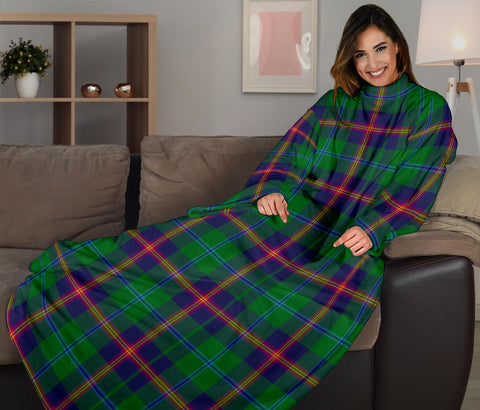 Image of Young Modern Tartan Clans Sleeve Blanket K6