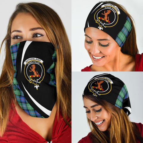 Sutherland Old Ancient Tartan Bandana Circle Hj4