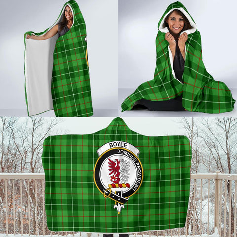 Image of Boyle Clans Tartan Hooded Blanket - BN