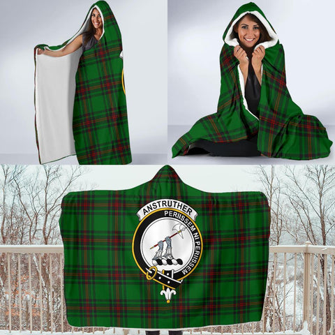 Anstruther Clans Tartan Hooded Blanket - BN