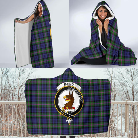 Image of Baird Clans Tartan Hooded Blanket - BN