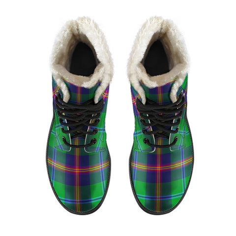 Image of Young Modern Tartan Boots For Men