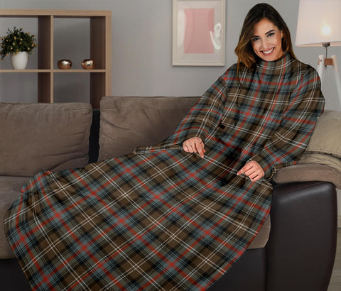 Image of Sutherland Weathered Tartan Clans Sleeve Blanket K6