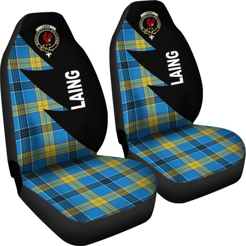 Laing Clans Tartan Car Seat Covers - Flash Style - BN