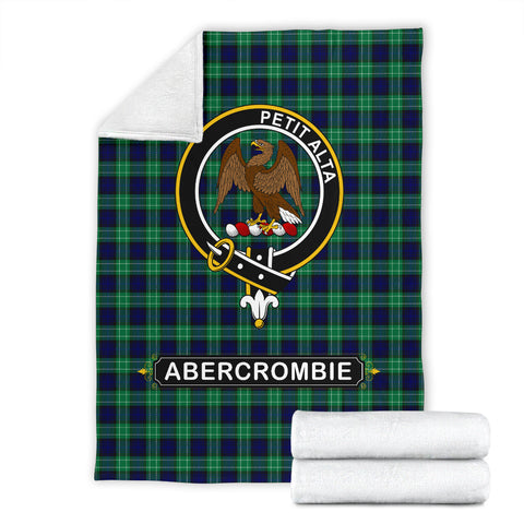Image of Abercrombie (or Abercromby) Crest Tartan Blanket | Tartan Home Decor | Scottish Clan