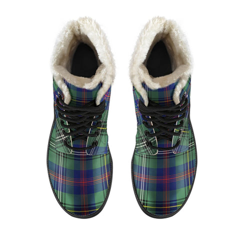 Wood Modern Tartan Boots For Men