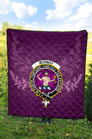 Image of Murray of Tulloch Modern Crest Violet Quilt