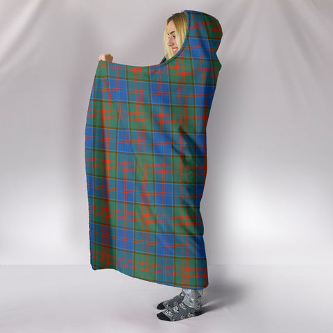 Image of Stewart of Appin Hunting Ancient, hooded blanket, tartan hooded blanket, Scots Tartan, Merry Christmas, cyber Monday, xmas, snow hooded blanket, Scotland tartan, woven blanket