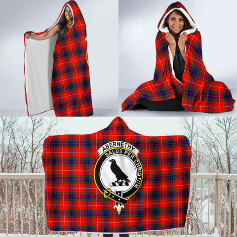 Image of Abernethy Clans Tartan Hooded Blanket - BN