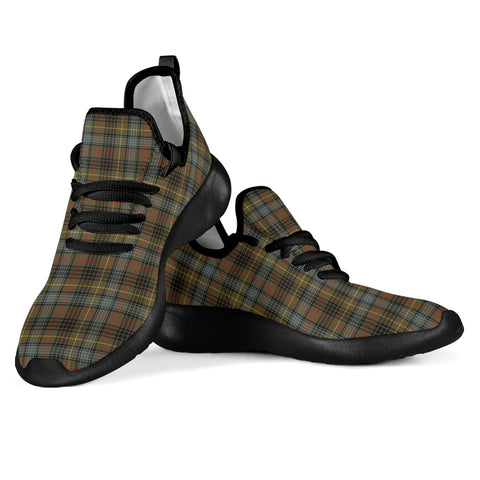 Tartan Mesh Knit Sneakers - Stewart Hunting Weathered