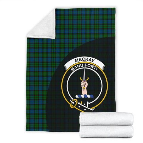 MacKay Modern Tartan Clan Badge Premium Blanket Wave Style TH8