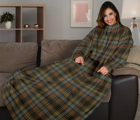 Stewart Hunting Weathered Tartan Clans Sleeve Blanket K6