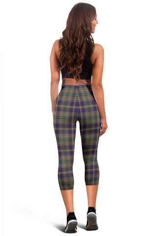 Image of Taylor Weathered Tartan Capris Leggings