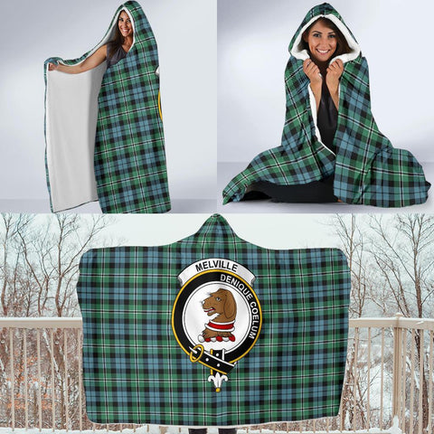 Image of Melville Clans Tartan Hooded Blanket - BN