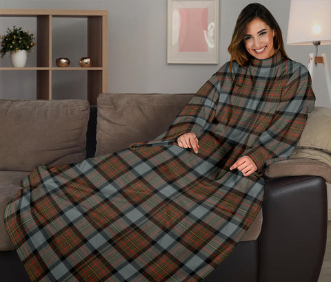 Image of MacLaren Weathered Tartan Clans Sleeve Blanket K6