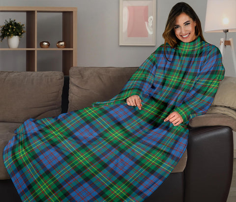 Image of Bowie Ancient Tartan Clans Sleeve Blanket K6