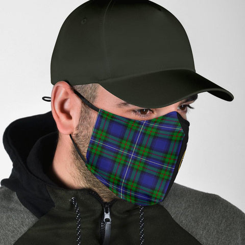 Robertson Hunting Modern  Tartan Mouth Mask The Half Th88