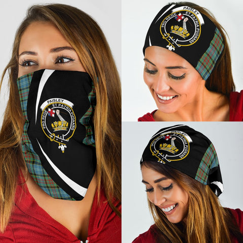 Paisley District Tartan Bandana Circle Hj4