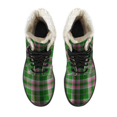 Gray Hunting Tartan Boots For Men