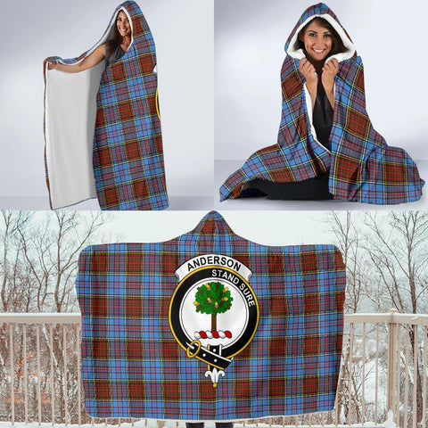 Image of Anderson Clans Tartan Hooded Blanket - BN