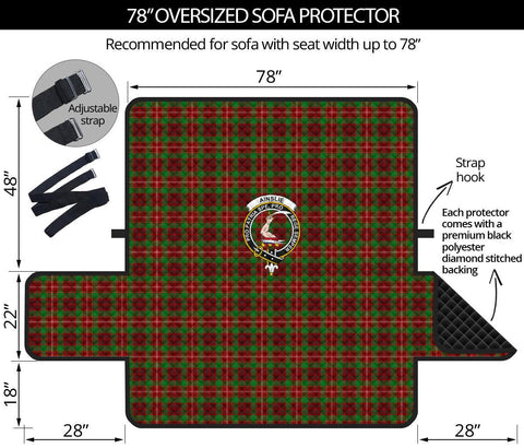 Ainslie Tartan Clan Badge Oversized Sofa Protector K7