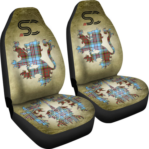 Image of Anderson Ancient Tartan Car Seat Cover Lion and Thistle Special Style TH8