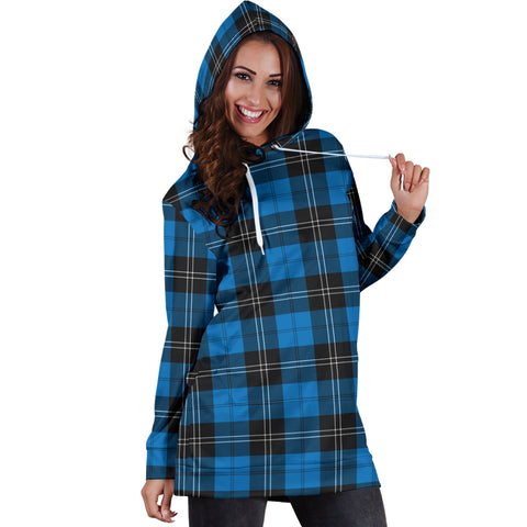 Ramsay Blue Ancient Tartan Hoodie Dress HJ4