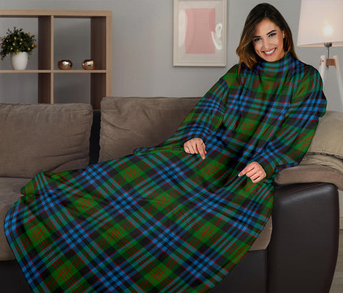 Image of Newlands of Lauriston Tartan Clans Sleeve Blanket K6
